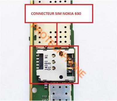 CONNECTEUR SIM NOKIA 630
