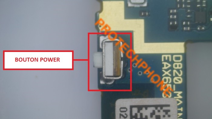 Bouton power nexus 5