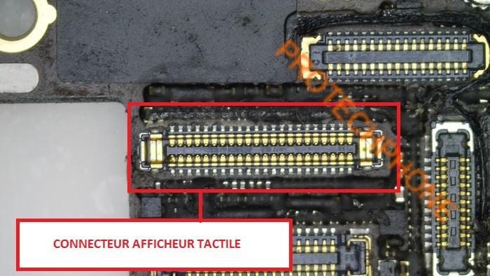 Connecteur affichage tactile