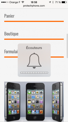 """MODE """"Ecouteurs"""" iphone 4S"""