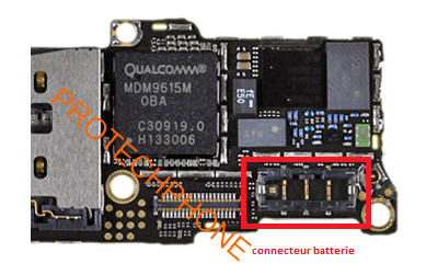 Iphone 5c connecteur batterie 1