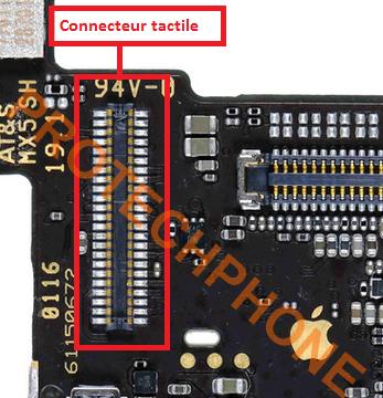 CONNECTEUR TACTILE sur  iPhone SE