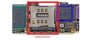 CONNECTEUR SIM iphone 5