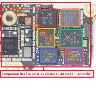 Réparation du réseau sur IPHONE 5C