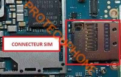 CONNECTEUR SIM XPERIA Z3