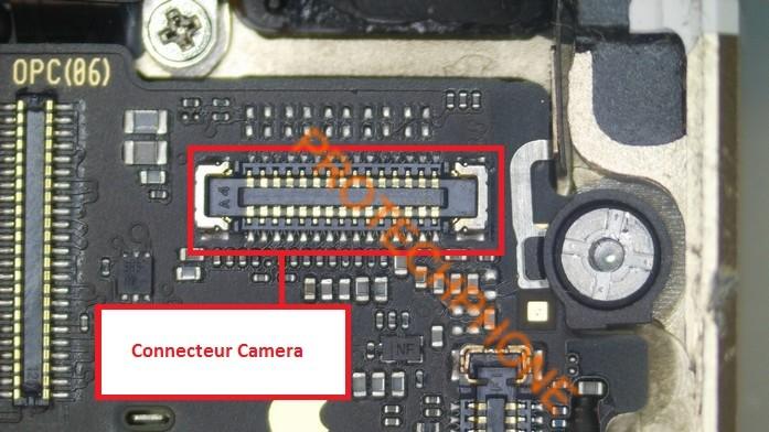 Connecteur camera