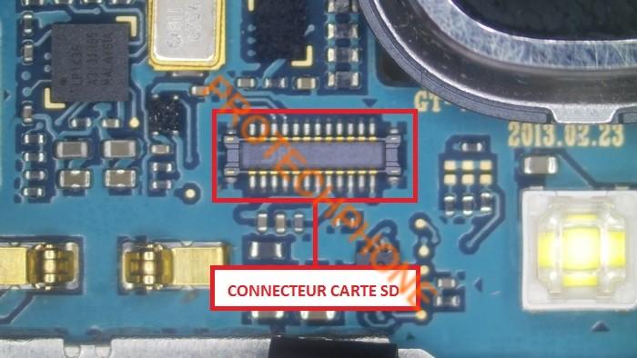 Connecteur carte sd 1