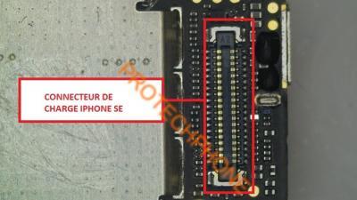 CONNECTEUR NAPPE DE CHARGE sur iPhone SE