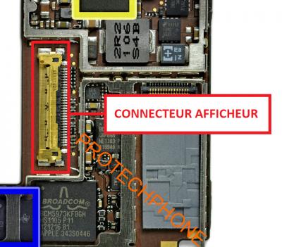 CONNECTEUR NAPPE AFFICHAGE ipad 2