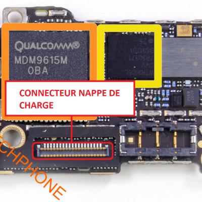 CONNECTEUR NAPPE DE CHARGE iphone 5S