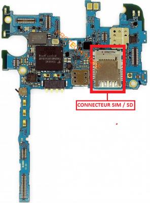 CONNECTEUR SIM N9005