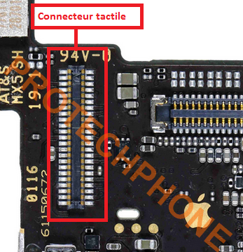 CONNECTEUR TACTILE sur  iPhone SE