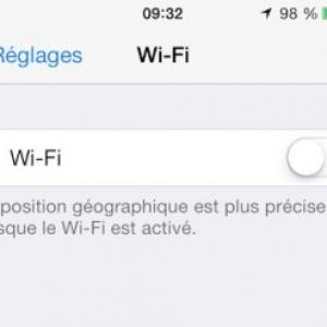Wifi iphone ne fonctionne pas ios71