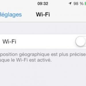 Wifi iphone ne fonctionne pas ios71